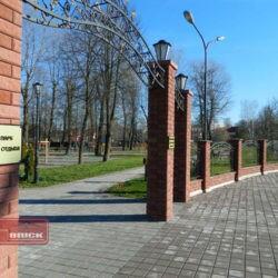 Ограждение детского парка в Заславле забором Brick