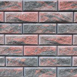 Образец бетонных блоков Brick цвет Графит-Коричневый-Красный