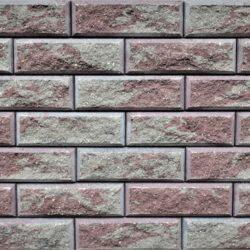 Образец бетонных блоков Brick цвет Коричневый-Пепел