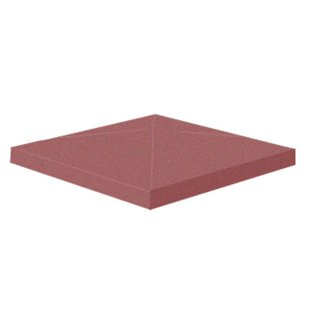 Крышка бетонная столба для забора Brick цветная 450х450