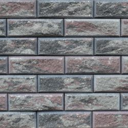 Образец бетонных блоков Brick цвет Графит-Коричневый-Пепел