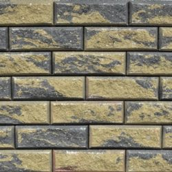 Образец бетонных блоков Brick цвет Графит-Желтый