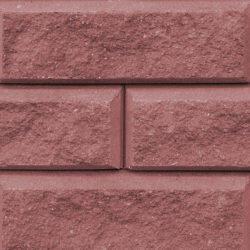 Бетонный блок Brick красного цвета