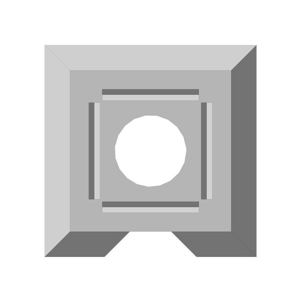 Бетонное фундаментное основание столба для забора Brick
