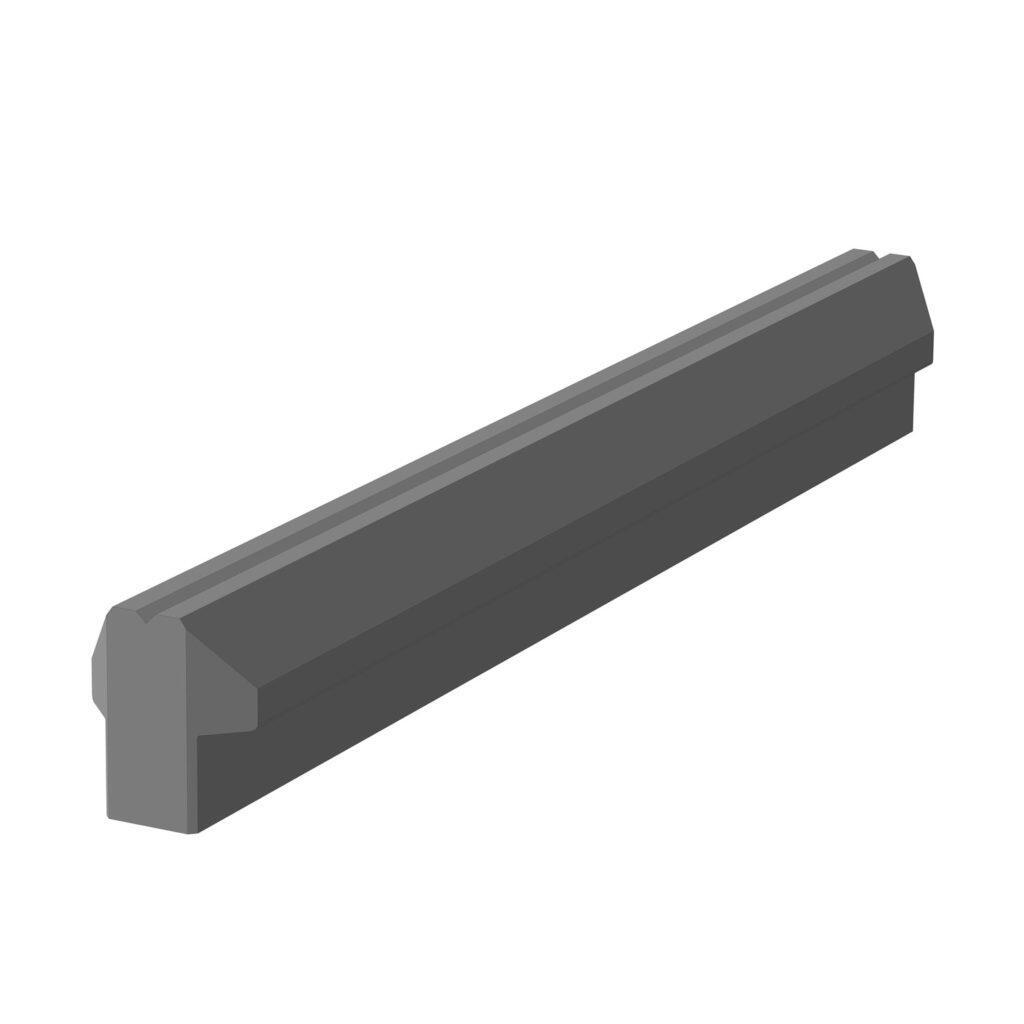 Бетонный ригель армированный для забора Brick р-р 2850мм, 4050мм