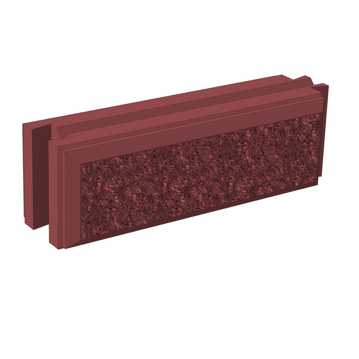 Бетонный блок Brick для забора рядовой вид с переди