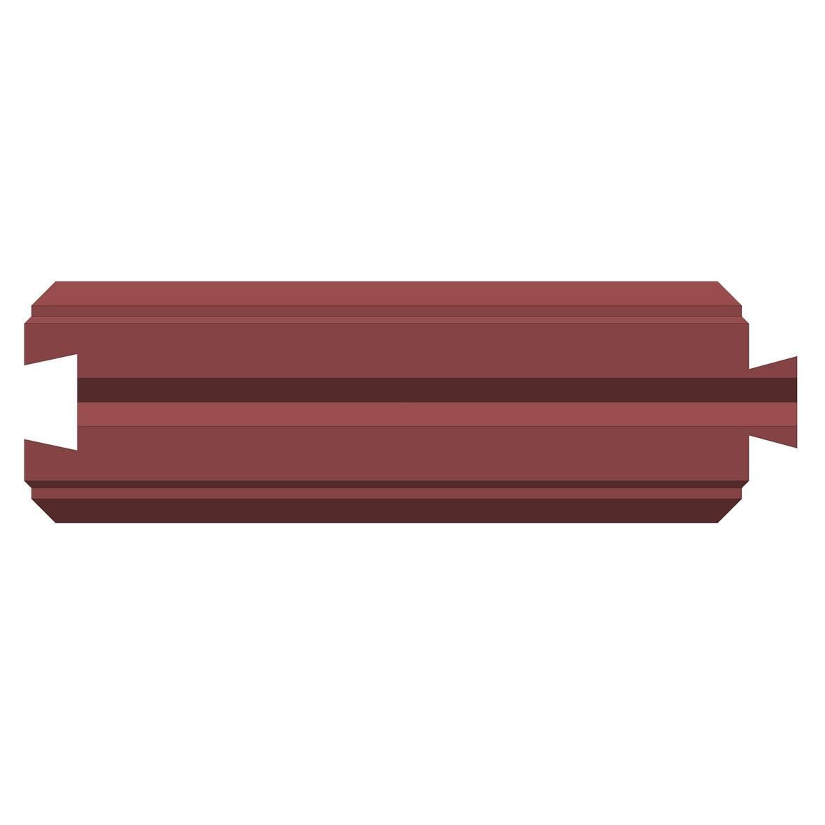 Бетонный блок Brick для забора рядовой вид с верху
