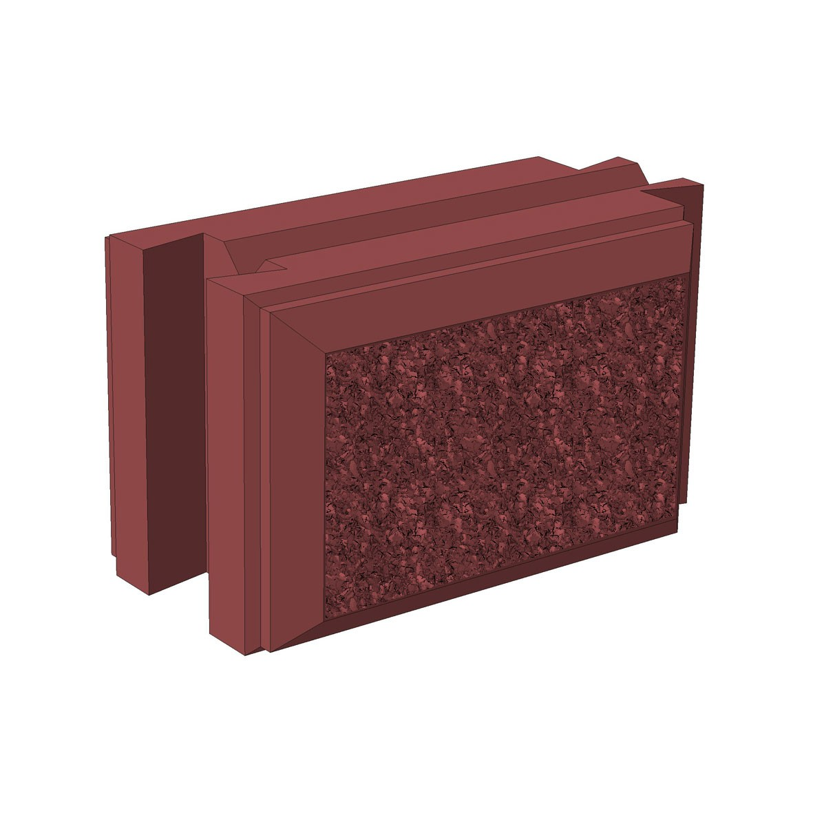 Бетонный блок Brick для забора рядовой доборный (папа/мама)