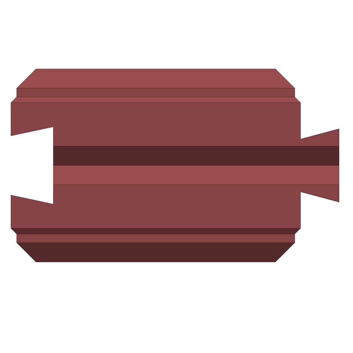 Бетонный блок Brick для забора рядовой доборный вид с верху (папа/мама)