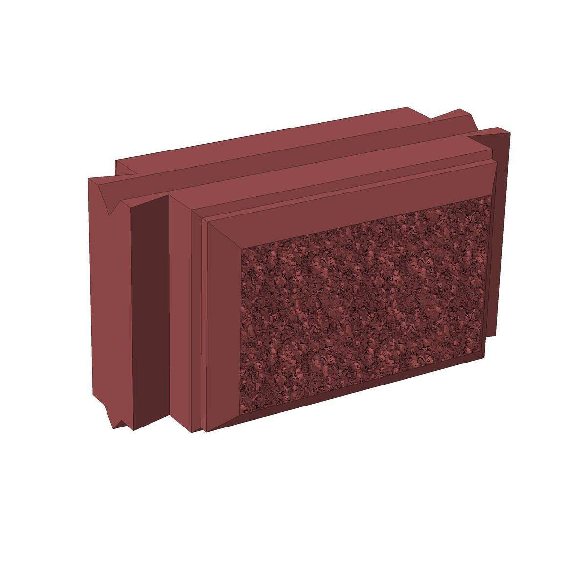 Бетонный блок Brick для забора рядовой доборный