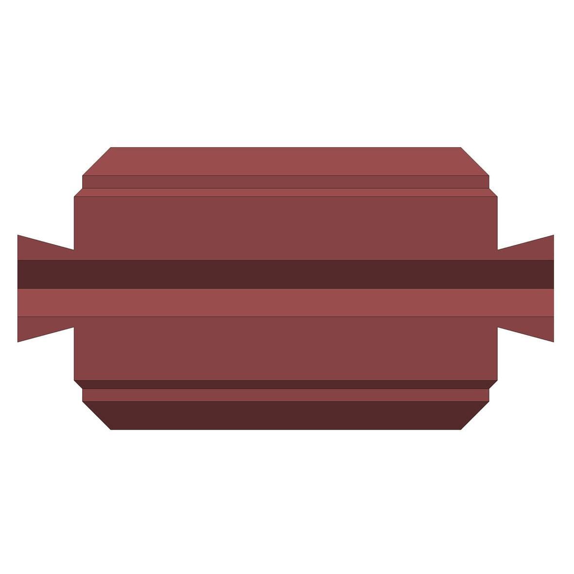 Бетонный блок Brick для забора рядовой доборный вид с верху
