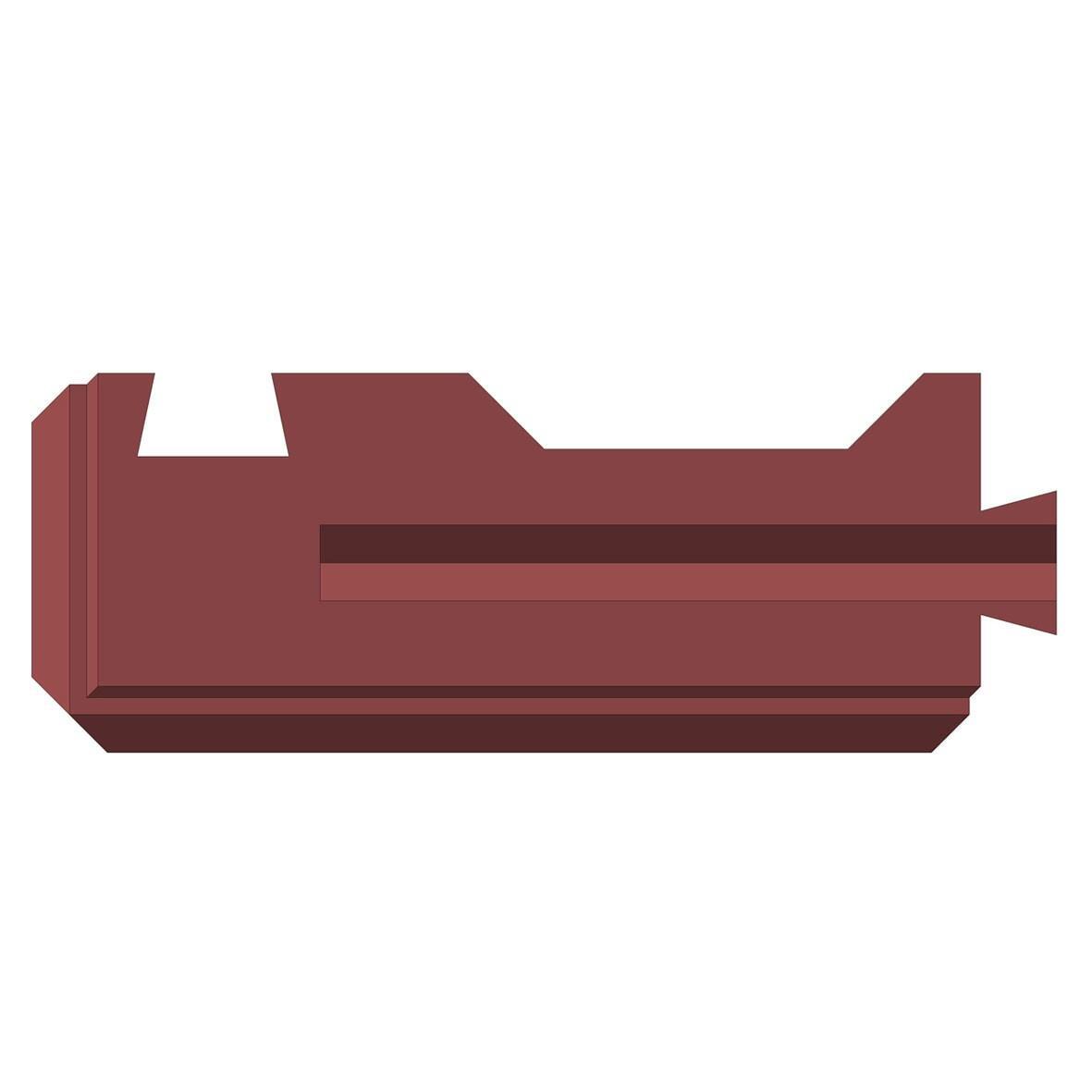 Блок бетонный угловой для забора Brick вид с верху